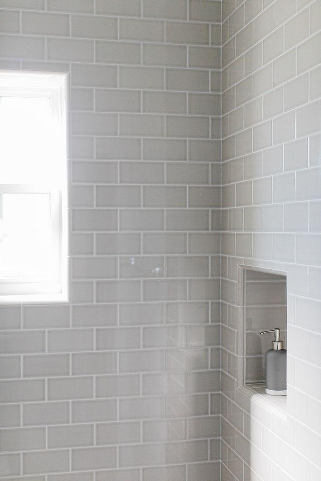 Grey Subway Tile Bathroom With 3x6 Grey Subway Tile Sources On Home Bunch Greysubwaytile White Subway Tile Bathroom Subway Tiles Bathroom Grey Subway Tiles