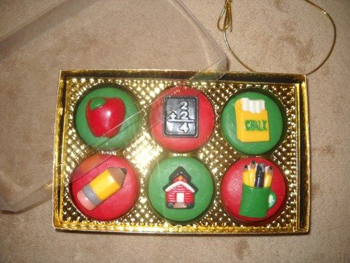 6pc chocolate oreo designer box teacher school lollipops lollipop | sapphirechocolates - Edibles on ArtFire