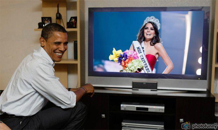 Ximena Navarrete Miss Universo 2010 en vivo Barack Obama