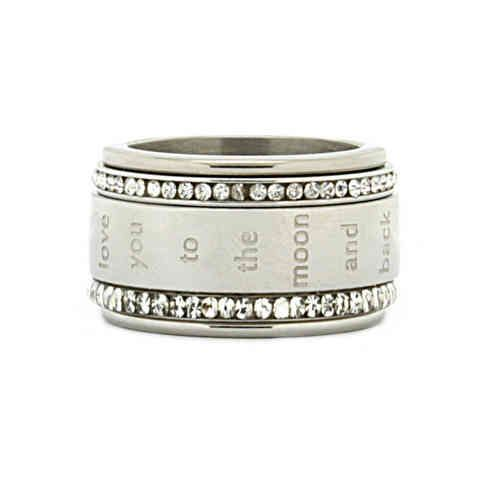 iXXXi Ring Komplett 4 Stapelring Love you to the moon