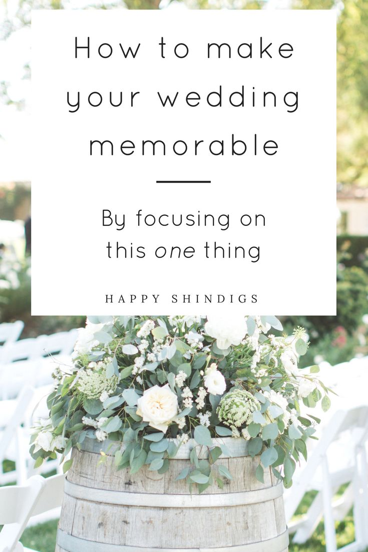 Want to know what the ONE secret is to making your wedding more memorable? Here's a hint: you only have to focus on one thing. Click through to find out what that one thing is!