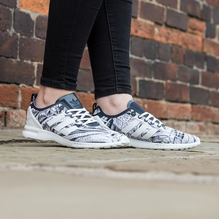 Adidas Flux Black And White Floral