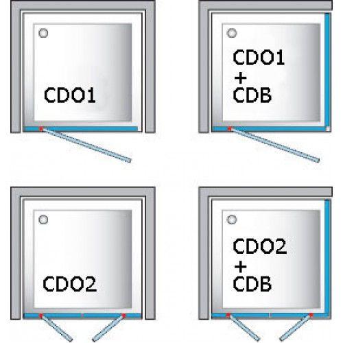 Roltechnik Sprchové dveře CDO1/ 900 - stříbro / bark
