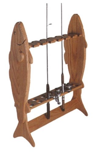 Fishing Pole Holder Plan Store your fishing poles with this fishing pole holder. The full size woodworking plan has complete instructions to make this one of a kind Fishing Pole Holder. The Fishing Po
