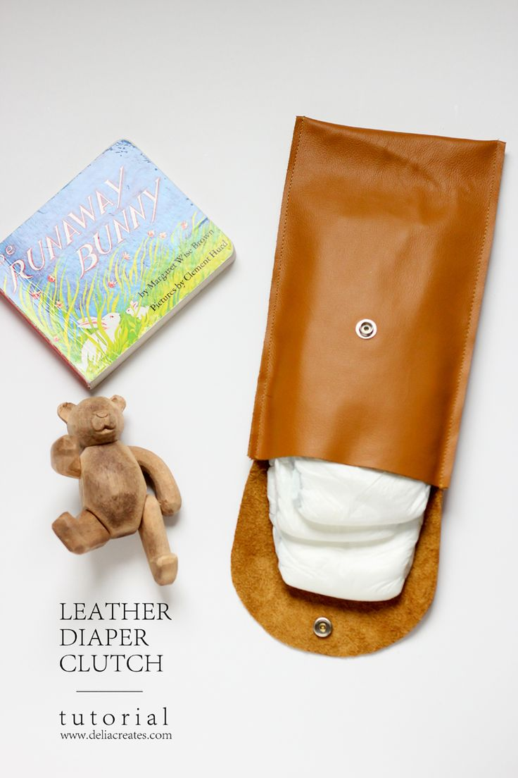 Make this simple leather diaper clutch using this really easy tutorial | by Delia Creates for this heart of mine