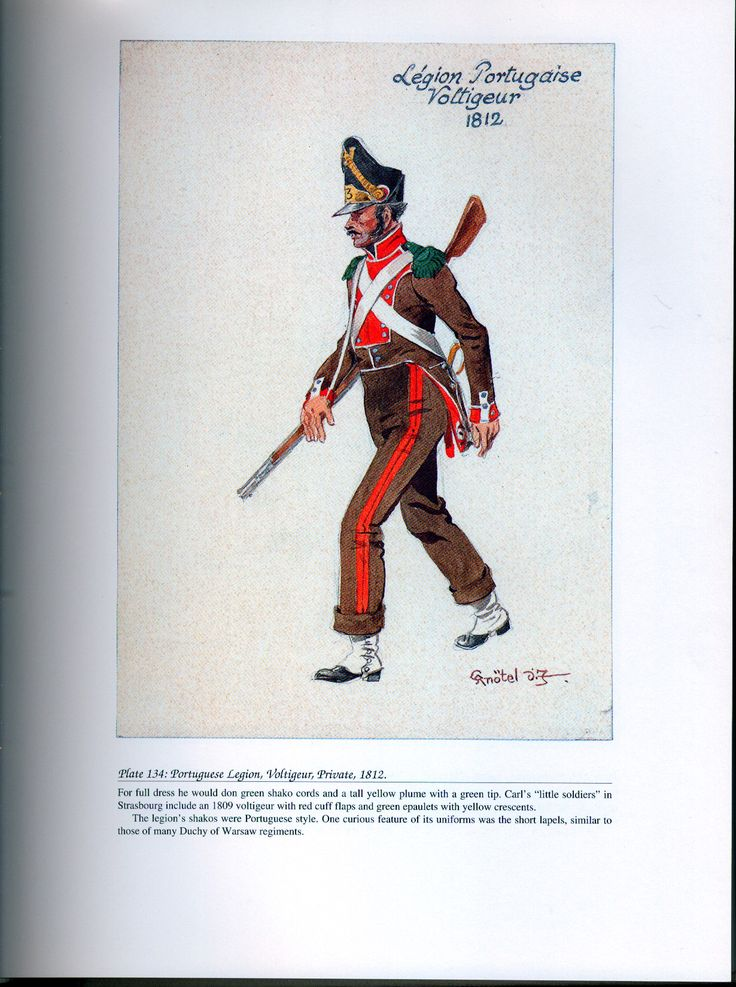 Foreign Troops: Plate 134: Portuguese Legion, Voltigeur Private, 1812.