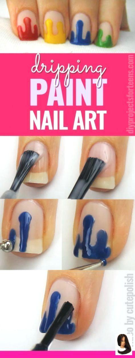#Art #Fun #Funnailartglitter #Nail #Spring #Spring Nails for kid