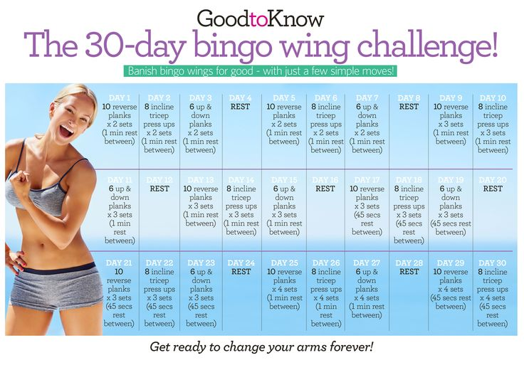 GoodtoKnow's 30-day bingo wing challenge. Get your chart here and start ticking it off today! #30daychallenge
