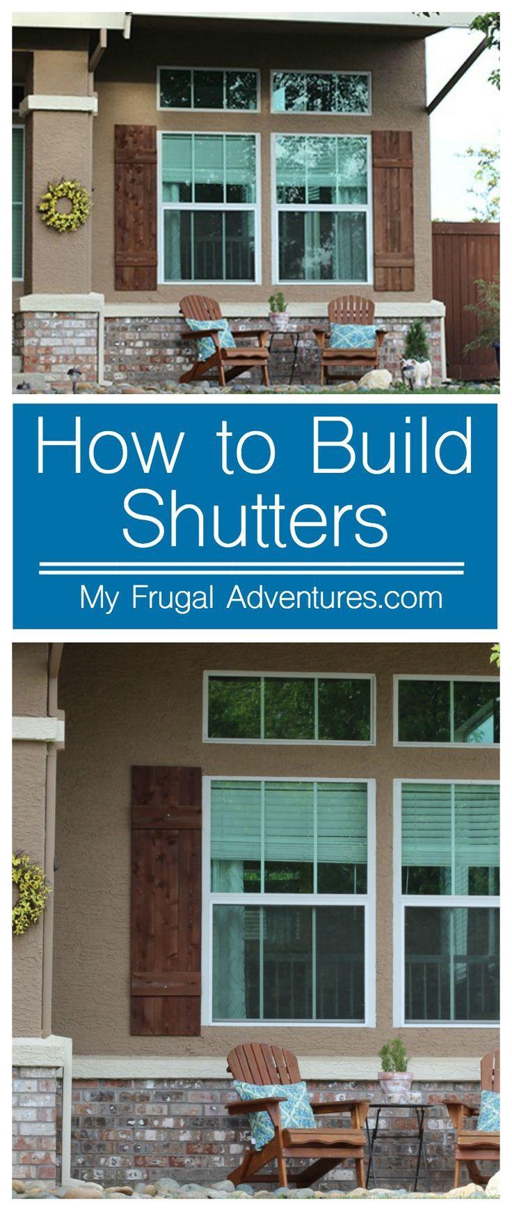 Bay window exterior shutters - How To Build Outdoor Shutters Diy Exteriorexterior Shuttersoutdoor Shutterswindow