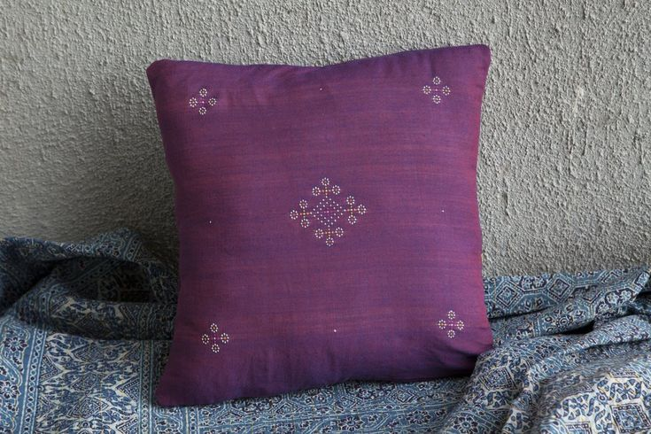 Tangaliya Purple Cushion Cover 16