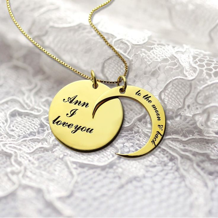 #ValentinesGifts - I Love You to The Moon and Back Necklace - Is there someone you love more than anything? Our personalized #ILoveYoutoTheMoonandBack Love Necklace Gold is very popular and we now have the perfect option for you!  A hand-stamped message on our charm necklace  to make your love became more deeper. It comes packaged on a beautiful gift box that makes it perfect for gifting.