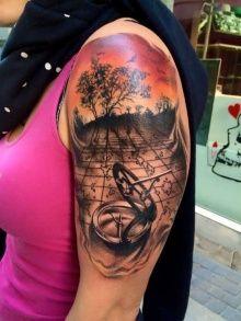 Tattoo Shrub Map Compass