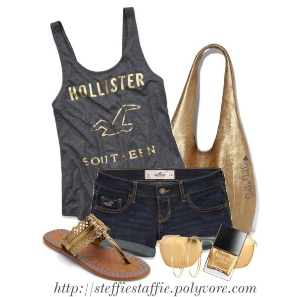 """""""Charcoal Gray & Gold"""" by steffiestaffie on Polyvore"""