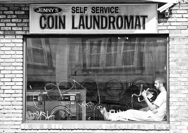 Coin Laundromat by Thomas Hawk, via Flickr | Smelly Towels? | Stinky Laundry?| Washer Odor? | http://WasherFan.com | Permanently Eliminate or Prevent Washer & Laundry Odor with Washer Fan™ Breeze™ |#Laundry #WasherOdor#SWS