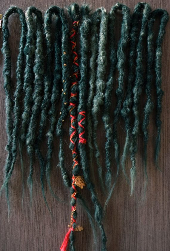 7DE  3 SE Green Dreadlocks by WarriorLocks on Etsy  Dreadlocks made by me ! I make custom dreadlocks and you can get a set for yourself here : https://www.facebook.com/WarriorLocks/ :D