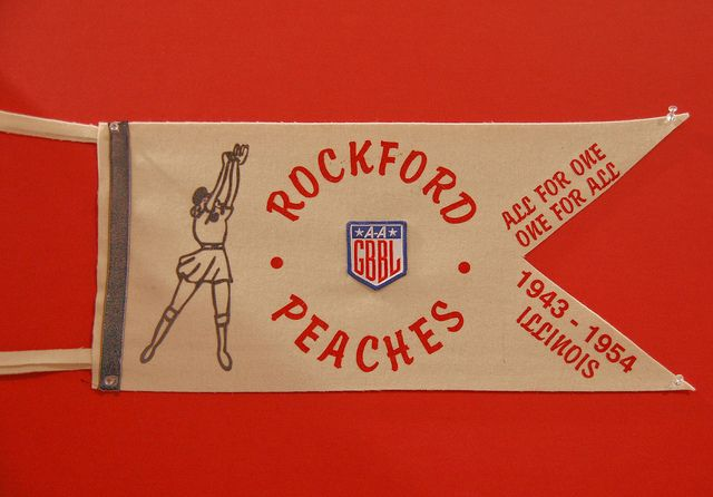 Rockford Peaches pennant.