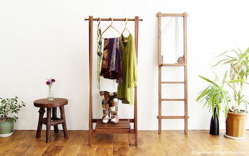 ハンガーラック:欲しい!が見つかる7つの選び方 木製 ハンガーラック