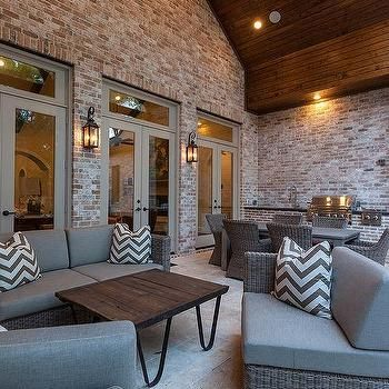 Gray Outdoor Sofa and Chairs, Transitional, Deck/patio