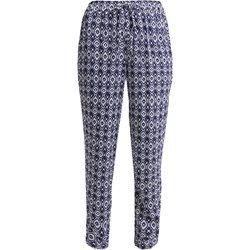 Even&Odd Spodnie materiałowe white/dark blue
