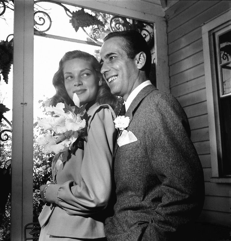 Lauren Bacall and Humphrey Bogart's wedding on May 1, 1945 proved to countless brides across the country that less can certainly mean more when it comes to your nuptials. Description from thefavoredbrideblog.com. I searched for this on bing.com/images