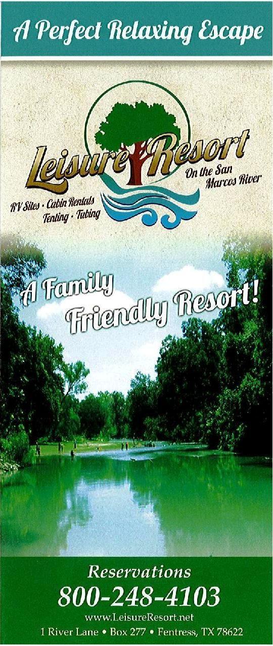 Leisure Resort Park A Family Friendly Resort Fentress Tx