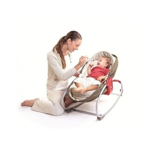 Baby Napper, Tiny Love 3 in 1 Rocker Brown Bouncer Feeding new Free Shipping