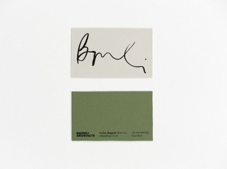 We designed the new identity for Melbourne based Bagnoli Architects, pairing a beautiful and unexpected colour palette with the distinctive signature of company director Stefan Bagnoli. This is offset by a restrained secondary type and consistent cool-grey paper stock across the stationery range tying the suite together. The surprise of a different colour duplexed on the reverse represents the flair of the practice.