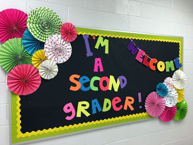 A back to school bulletin board idea.  It would make a great photo background too.