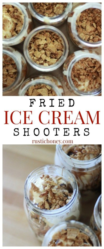 Fried Ice Cream Dessert Shooters - Easy Individual Desserts For Any Party!