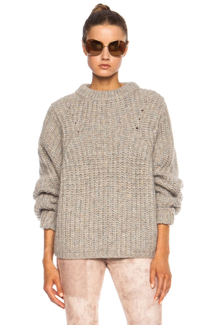 Image 1 of Isabel Marant Newt Mohair-Blend Sweater in Beige