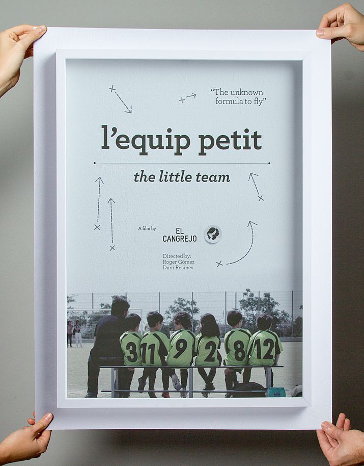 Graphic design for the short documentary El Cangrejo Films, L'Equip Petit by Lo Siento Studio Barcelona