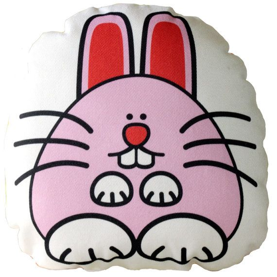 Pink Rabbit Cushion, Pillow, Soft Toy for Children  www.bobomoo.com