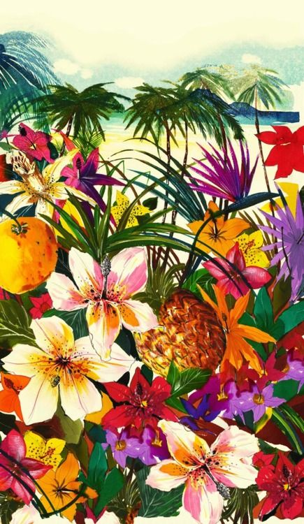 If I could repin this a million times and cover my house in it inside out...I would #tropical #print