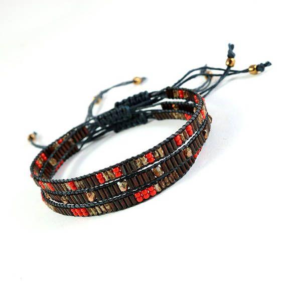 Beadwork Bracelet Boho Chic Dainty Bracelet Stacking Bracelet