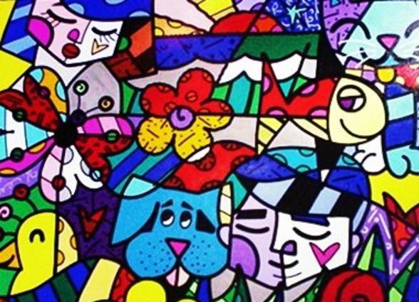 """""""From the Britto Garden"""" by Romero Britto"""
