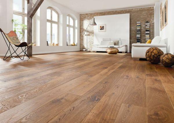 Wohnideen für das Interior Design-Boden aus Holz