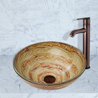 Shop Vigo  VG07063 Mocha Swirl Glass Vessel Bathroom Sink at ATG Stores. Browse our vessel sinks, all with free shipping and best price guaranteed.