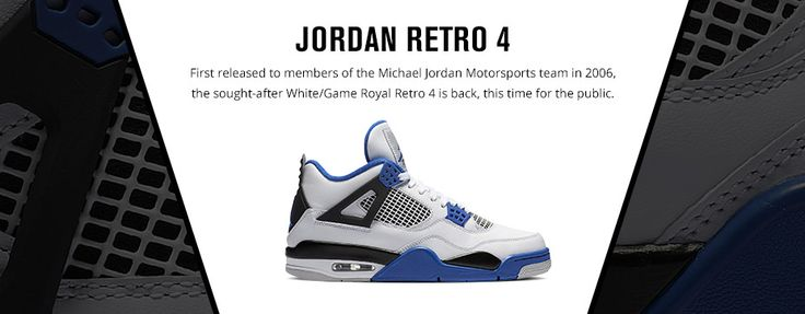 """Jordan Retro 4 """"Motorsports"""" – Foot Locker"""