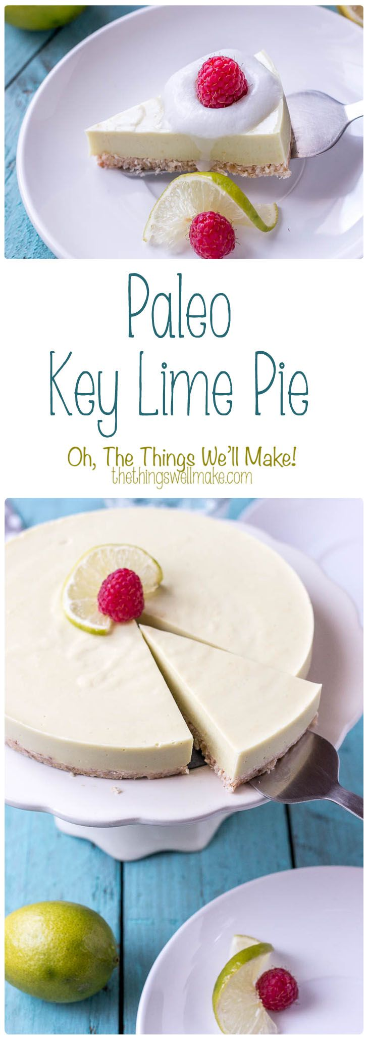 Smooth and creamy, this naturally green paleo key lime pie is tangy yet subtly sweet.