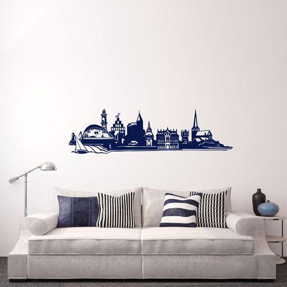 wandtattoo rostock skyline zuhause im norden. Black Bedroom Furniture Sets. Home Design Ideas
