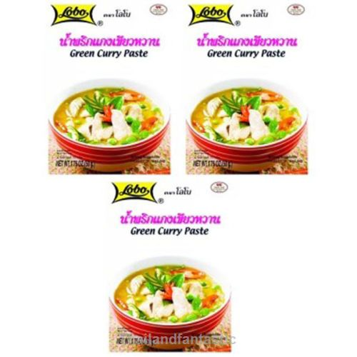 3x50g Lobo Green Curry Paste Thai Soup Recipe Menu Flavor Spicy Instant Food  Price:US $7.99  http://www.ebay.com/itm/162094858276  #ebay #Thailandfantastic #Paypal #Lobo #Green #Curry #Paste #Thai #Soup #Recipe #Menu #Flavor #Spicy #Instant #Food #Home #Garden #Beverages #Spices #Seasonings #Extracts