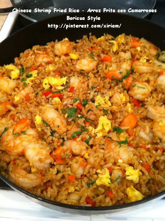 "My Puertorrican Chinese Shrimp Fried rice, what a hit.  My friends loves this recipe. Uhmm ""yummilicious""."