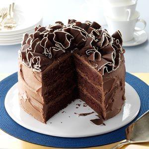 ... Sour Cream Chocolate Cake on Pinterest | Chocolate cakes, Cakes and