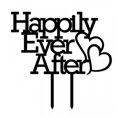 Happily Ever After Acrylic Cake Topper (many colours)