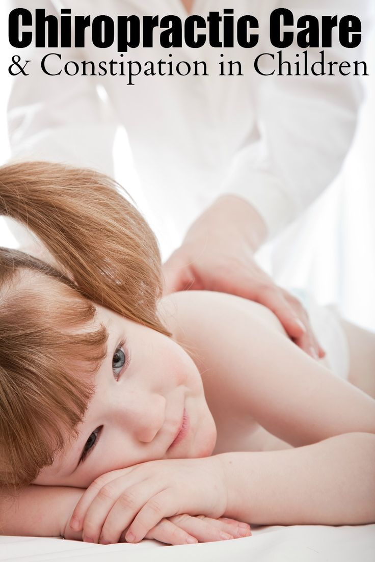 Chiropractic Care And Constipation In Children A Natural
