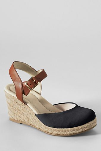 Women's Cara Closed Toe Espadrilles from Lands' End