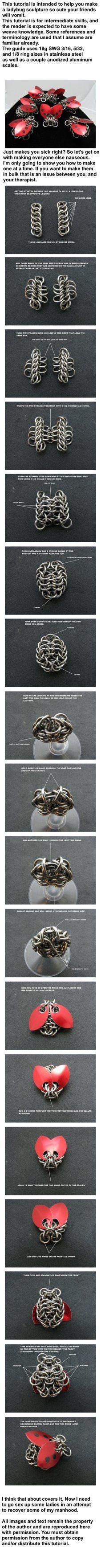 Ladybug Sculpture Tutorial by BorealisMetalWorks.deviantart.com on @DeviantArt