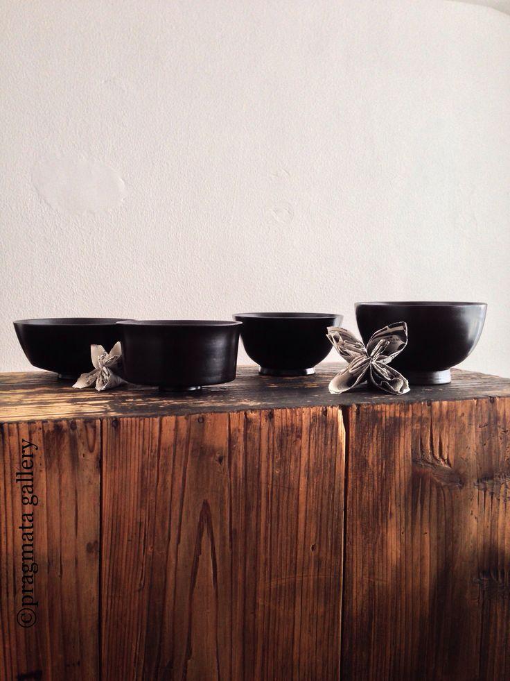 lacquer bowls by Akihiko Sugita  漆ボウル、杉田明彦。#pragmata