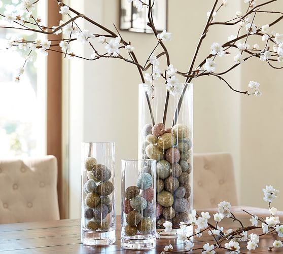 Aegean Clear Glass Vases | Large glass vase, Vases decor ...