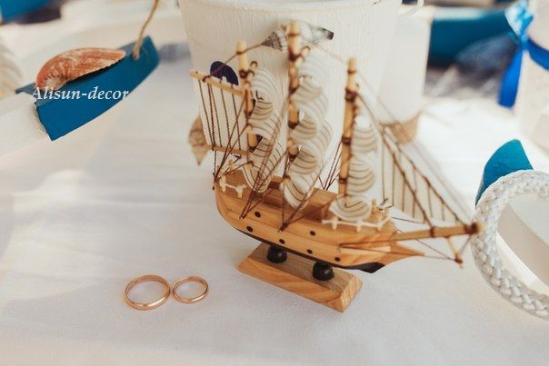 Marine theme. For decoration, for weddings, holiday.